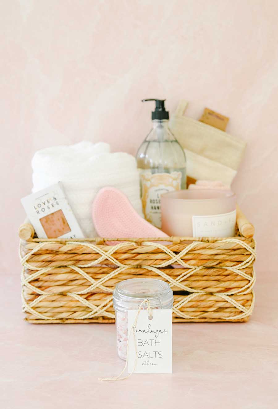 Mother S Day Gift Basket Idea Spa At Home Modern Glam