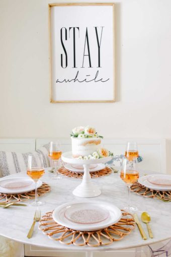 mother's day brunch table idea