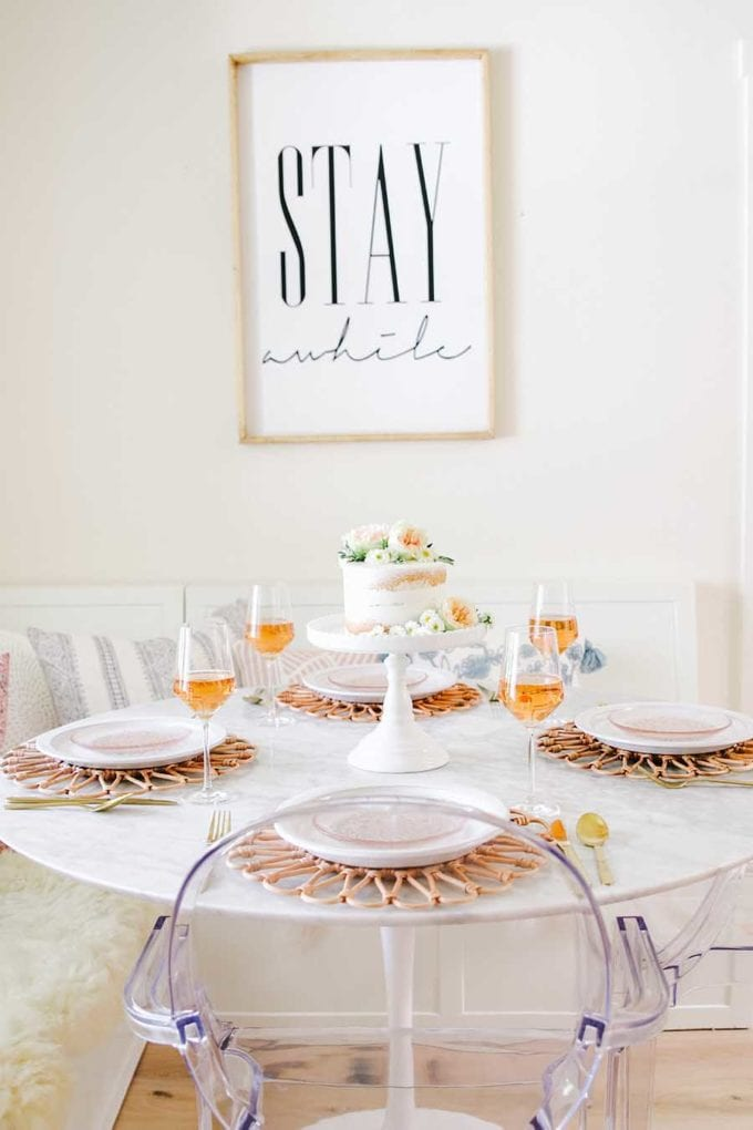 mothers day brunch table idea