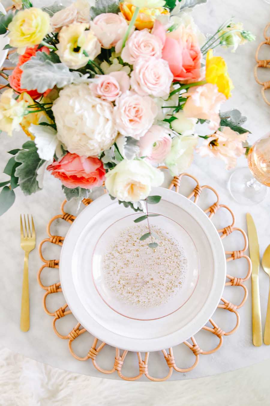 mother's day table setting idea