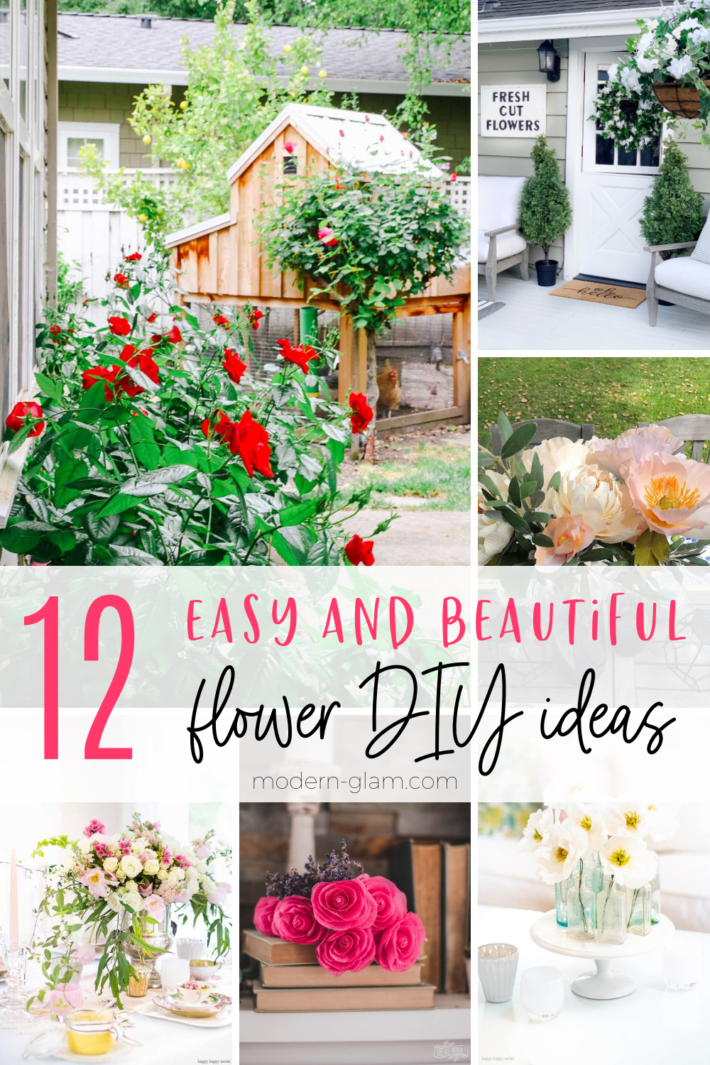 12 easy and beautiful flower DIY ideas