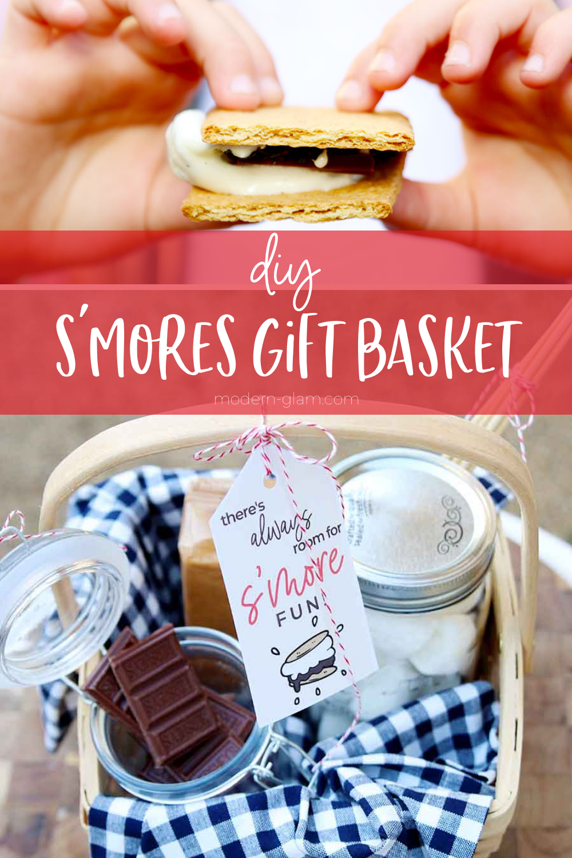 campfire s'mores gift basket idea