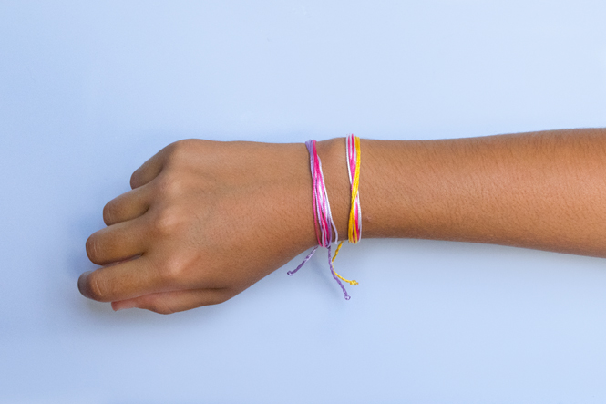 diy string bracelet craft