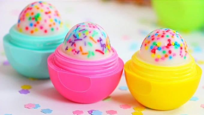 eos cupcake lip balm