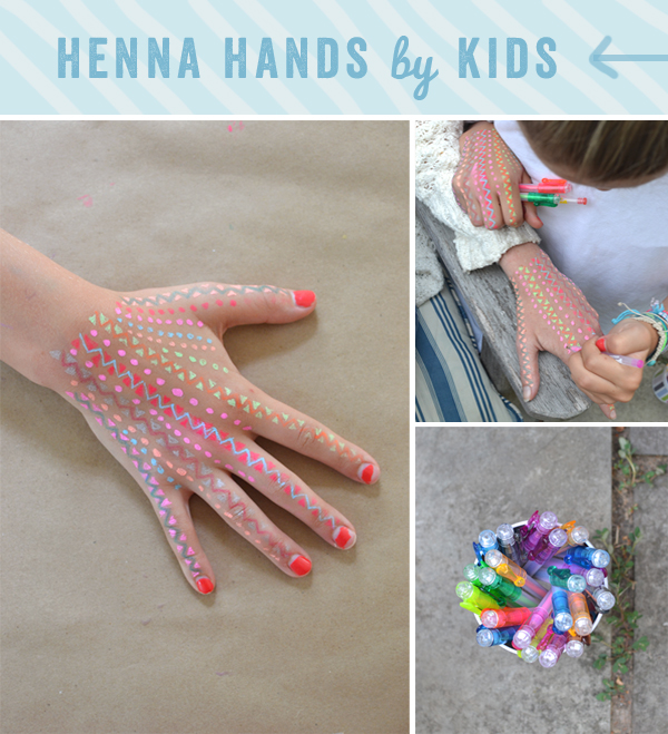 henna hands for kids