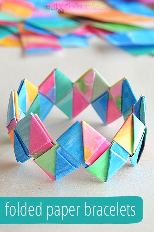 diy origami bracelets