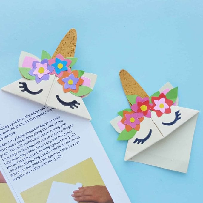diy unicorn bookmark for summertime fun