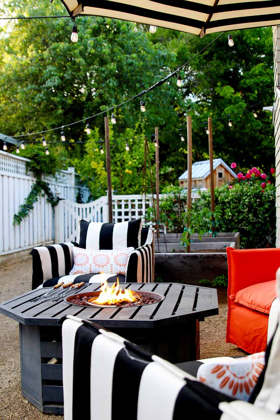 napa style summer patio
