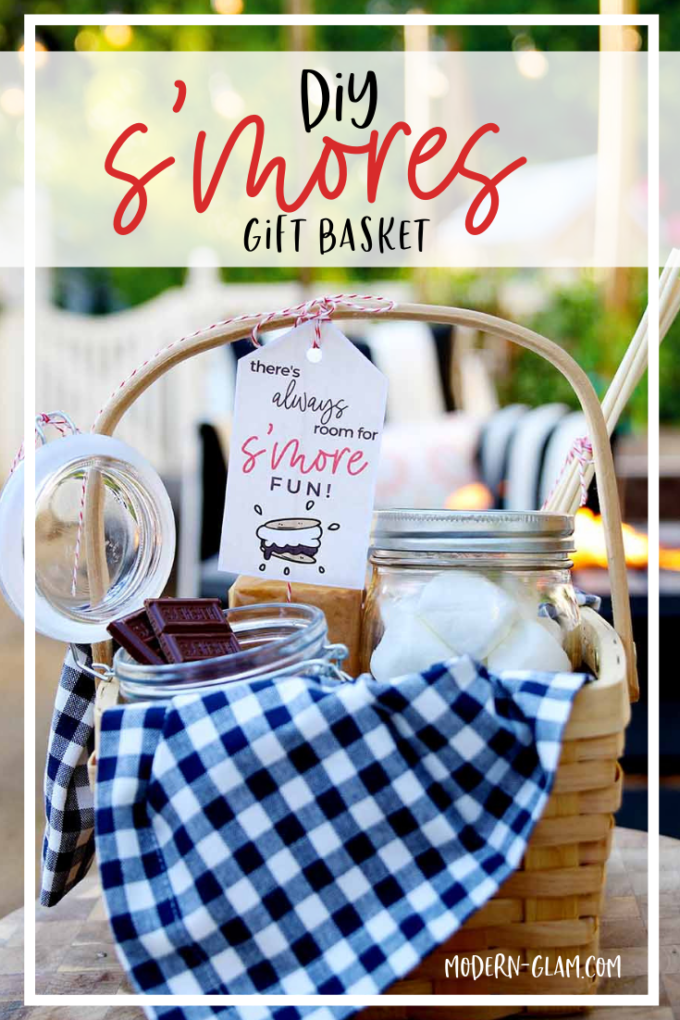 campfire s'mores gift basket