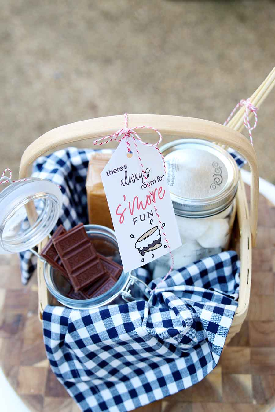 campfire gift basket idea