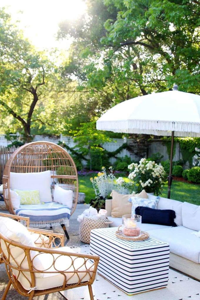 summer porch and patio decor