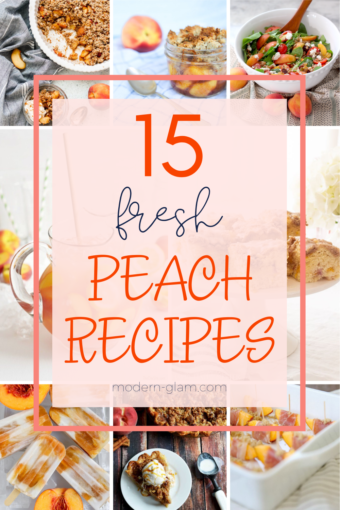 fresh peach recipes for summer