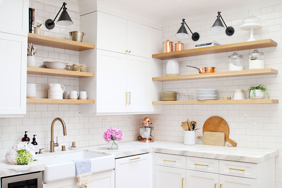 open shelving ideas for kitchen