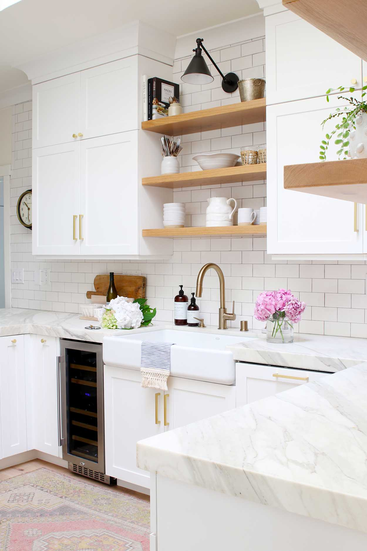 Modern Farmhouse Kitchen Reveal Modern Glam