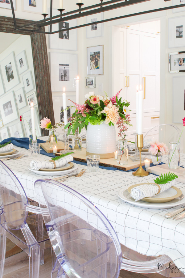 modern farmhouse summer table