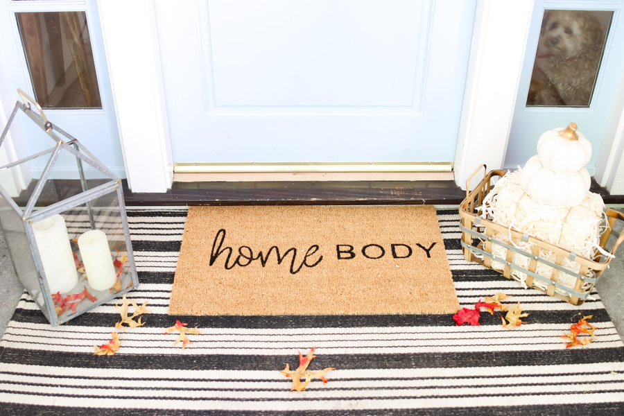 how to make a custom doormat for fall