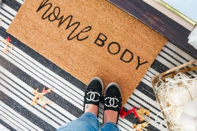 layered doormat ideas for fall