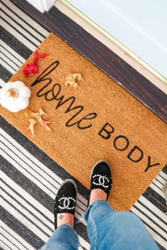 diy doormat for fall front porch