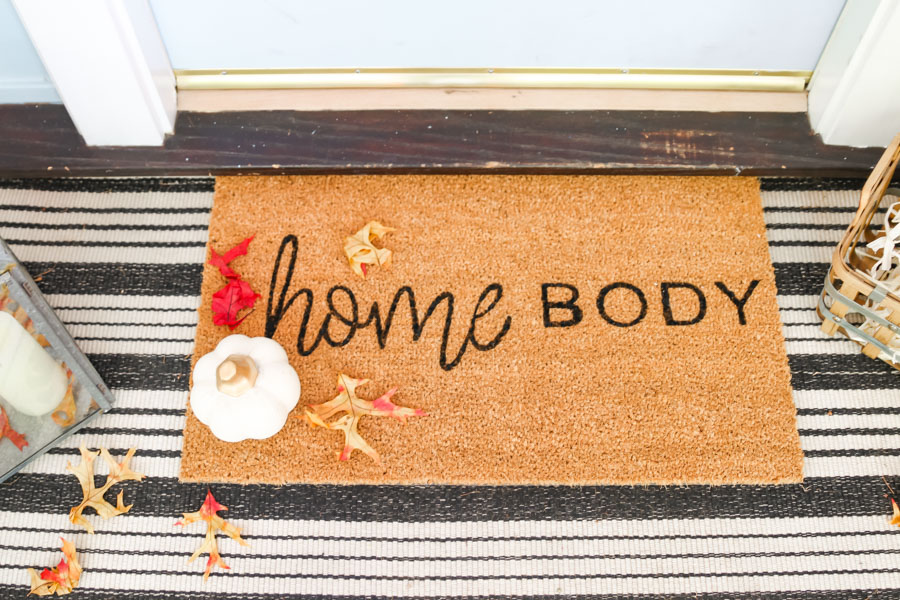 diy fall doormat custom