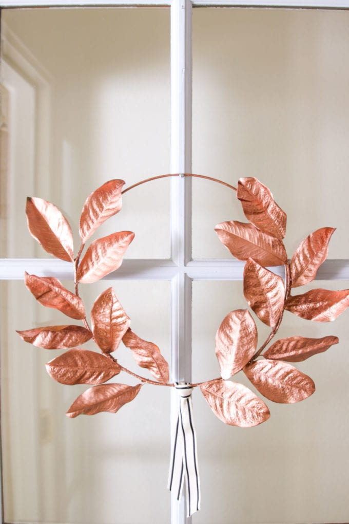 DIY fall laurel wreath