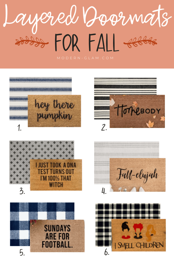 layered doormats and rugs