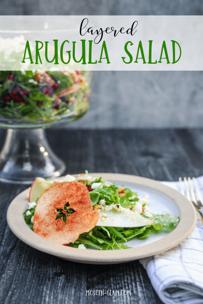 magnolia table layered arugula salad