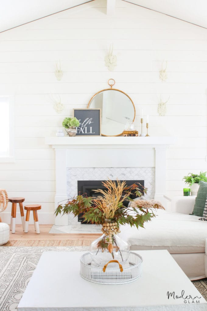 fall mantel decor idea