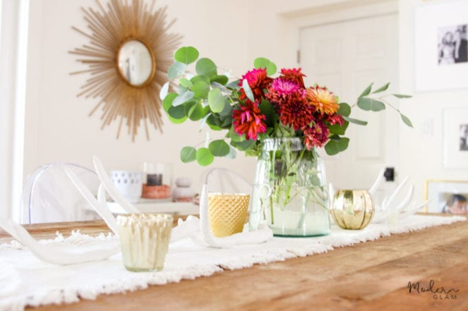 how to decorate the table for fall
