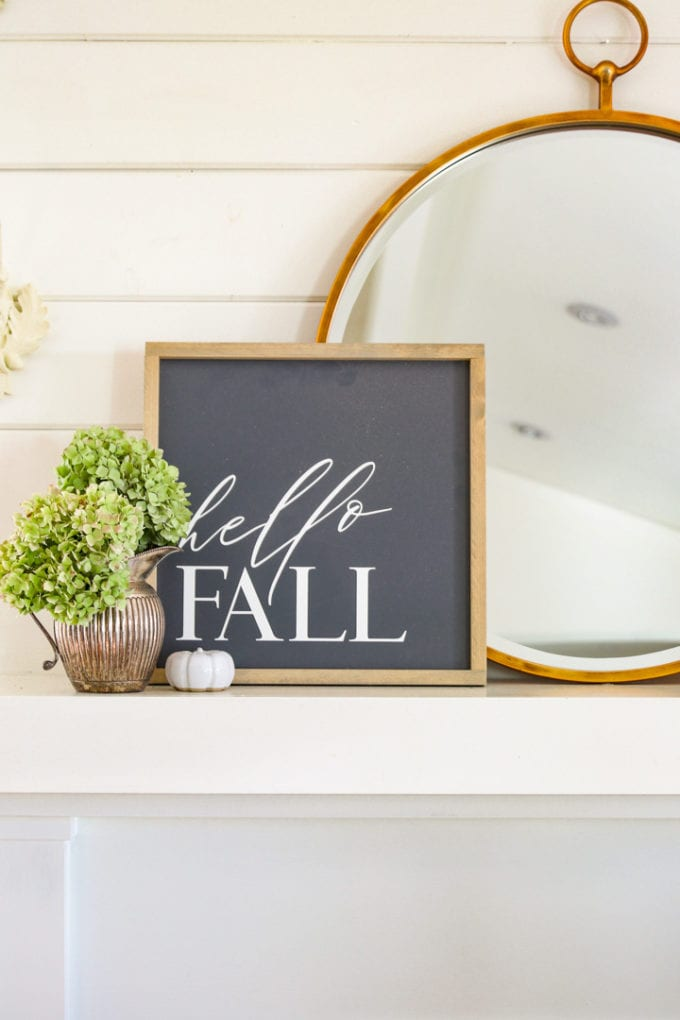 fall decorating ideas for fall mantel
