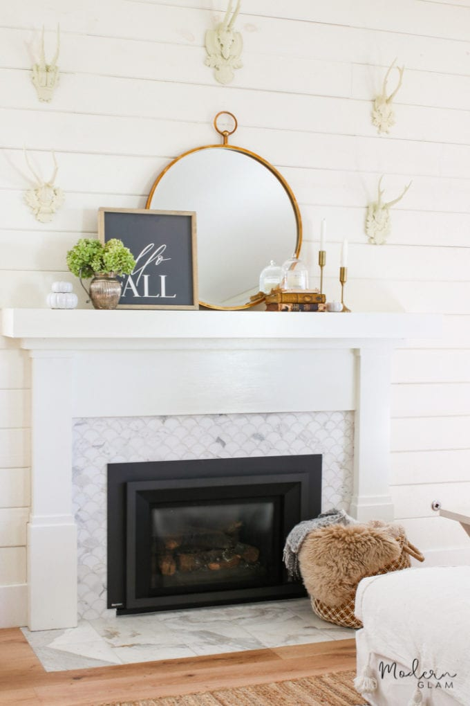 modern fall mantel ideas