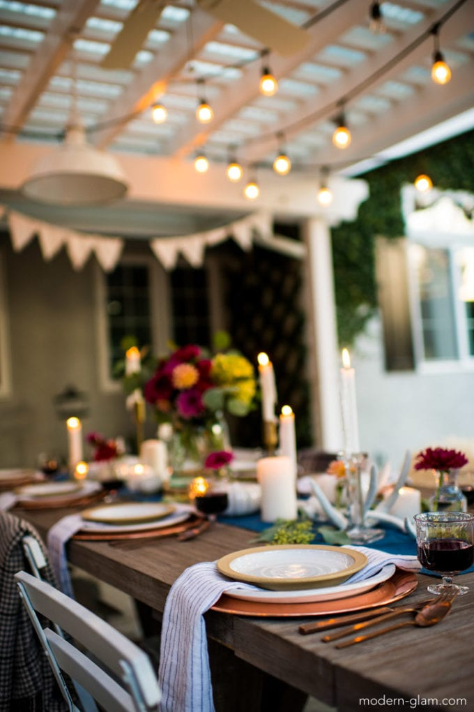 outdoor fall table decor