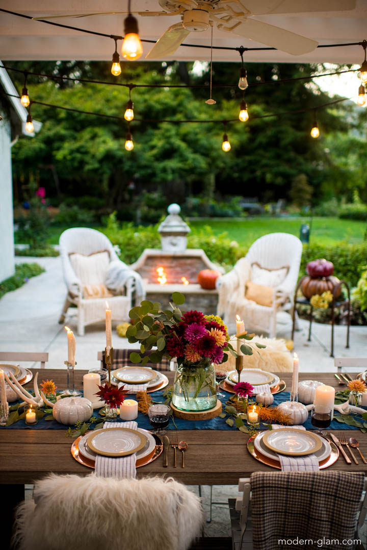 fall harvest decorations outdoors outdoor fall tablescape an autumn harvest table modern glam  autumn harvest table
