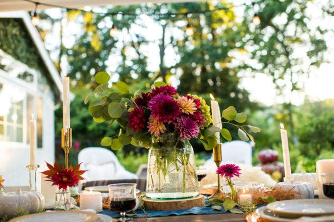 harvest table setting ideas