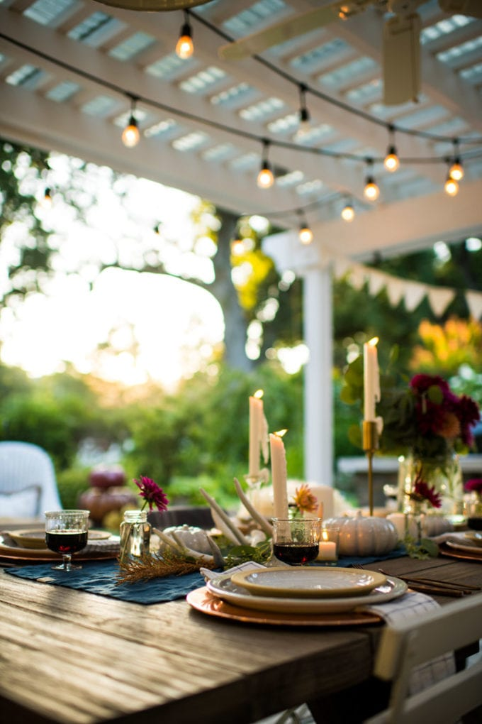 place setting ideas for fall table