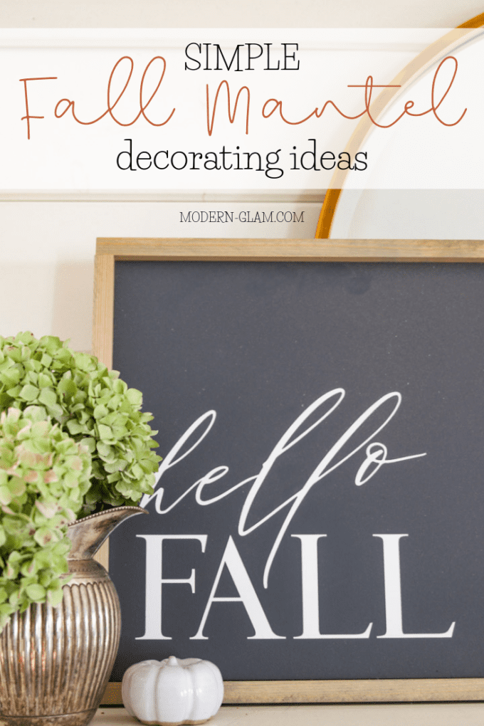 how to decorate your mantel for fall