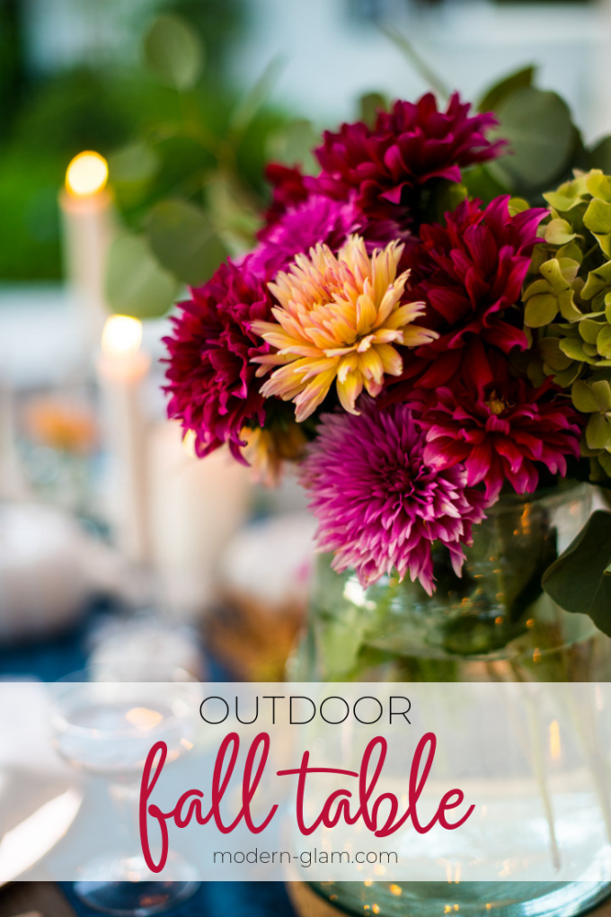 outdoor fall table decorations
