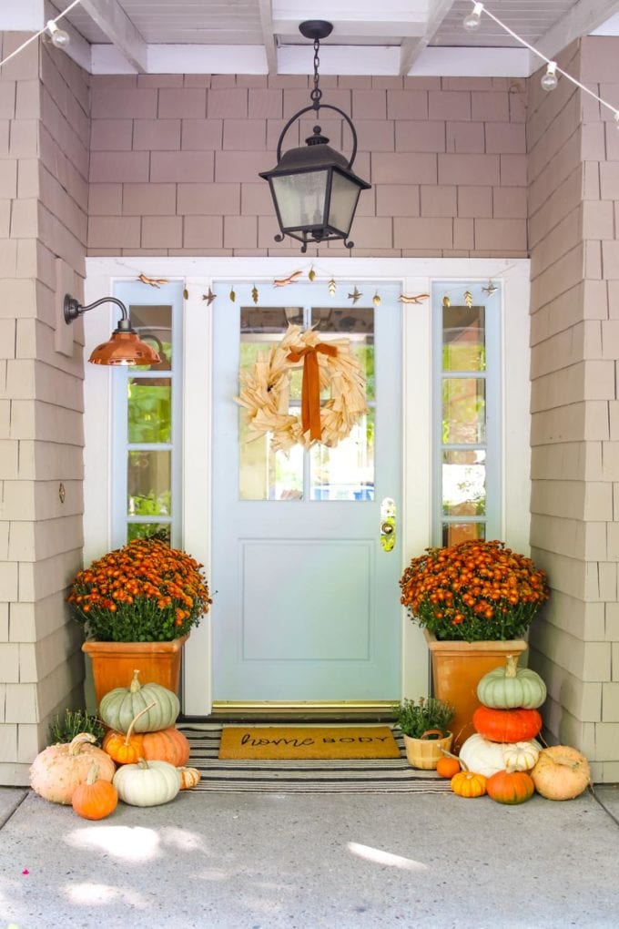 beautiful fall front door