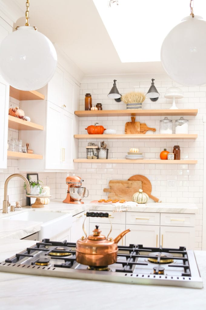 cozy fall kitchen