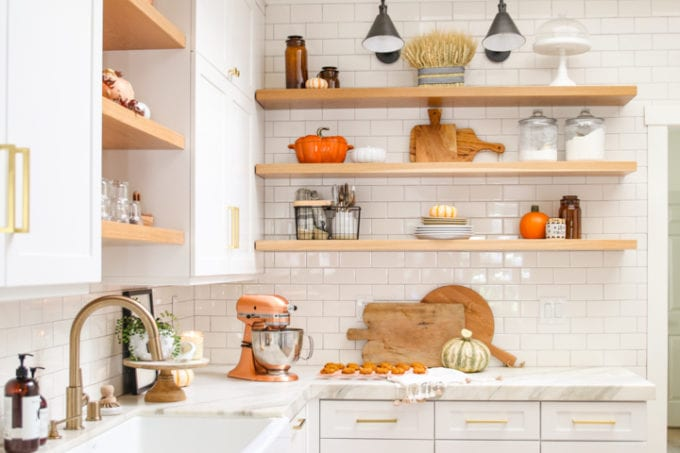 My Cozy Fall Kitchen Home Tour - Modern Glam - Interiors