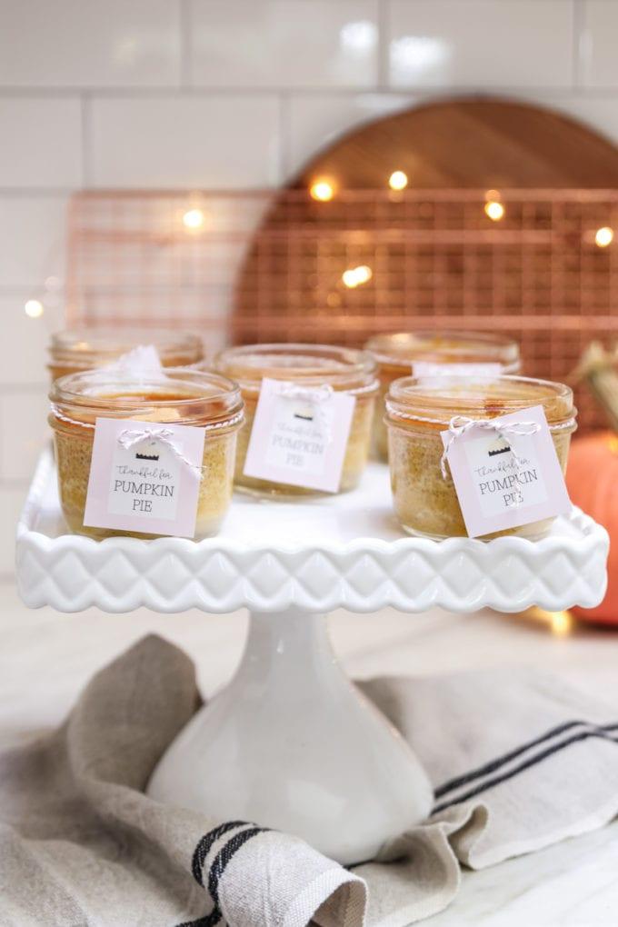 mason jar pumpkin pies