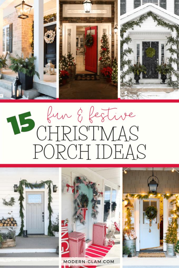 15 Fun Festive Christmas Porch Ideas Modern Glam Holidays