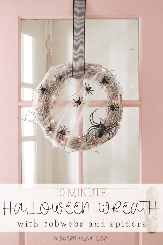 10 minute halloween wreath