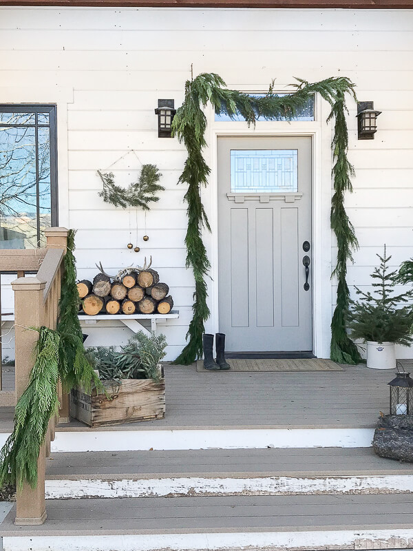simple christmas front door