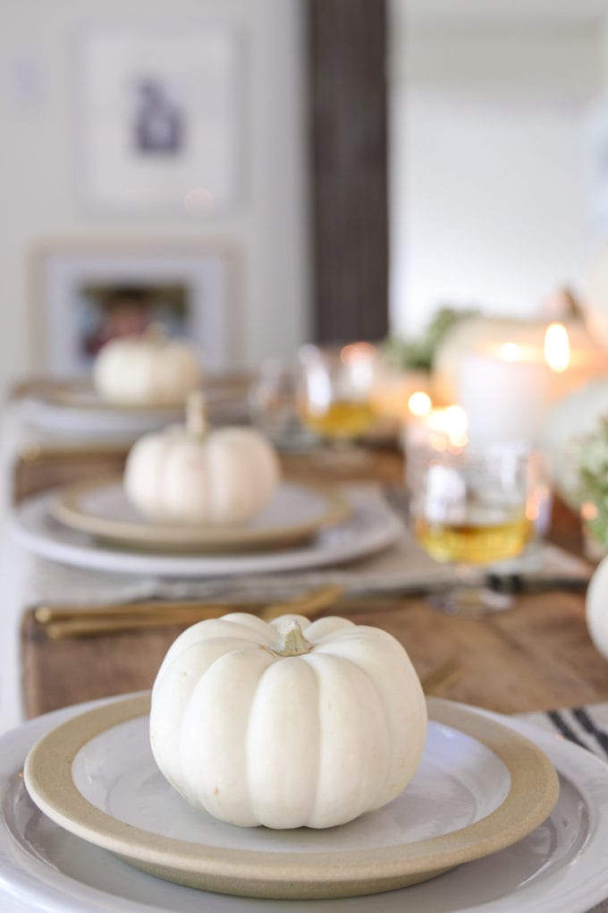 simple thanksgiving place setting