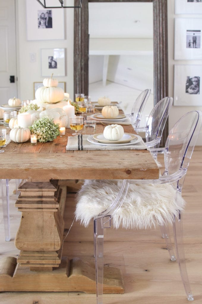 modern farmhouse table decor