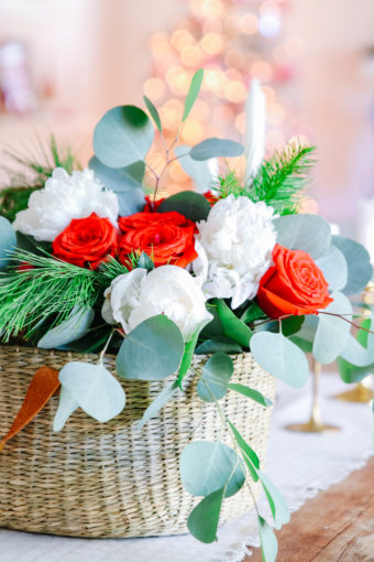 holiday flower arrangement