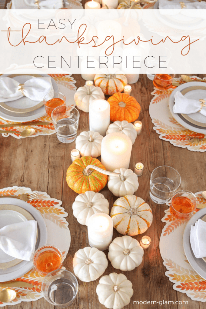 thanksgiving centerpiece idea with pumpkins