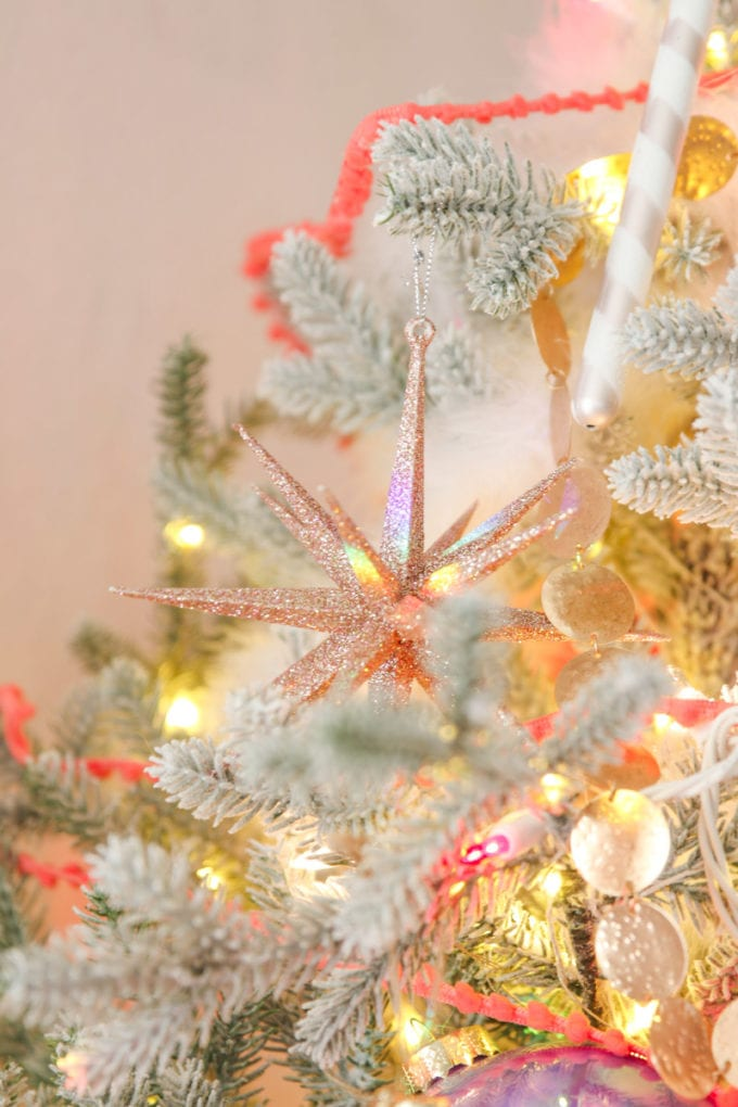 pink christmas tree for girls