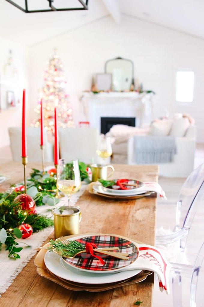 christmas table garland