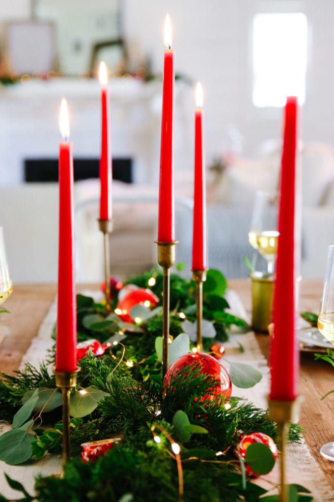 vintage modern holiday centerpiece